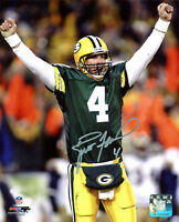 Packers Brett Favre Authentic Signed 8x10 Photo w/ Favre Hologram & COA