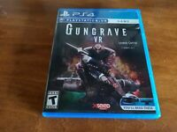 Gungrave VR (Sony Playstation 4, 2018) PS4 PSVR mint played once complete poster