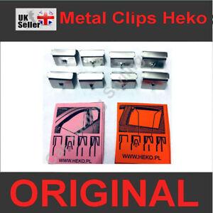 8 pcs Genuine Metal Clips Type Channel Wind Deflectors HEKO Original