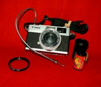 Canon Canonet 28 35mm Rangefinder Camera 40mm f/2.8 Lens Very Nice! Full Working
