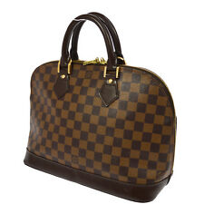 AUTHENTIC LOUIS VUITTON ALMA HAND TOTE BAG PURSE DAMIER N51131 VINTAGE AK14920