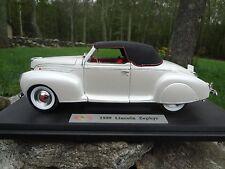 1939 LINCOLN ZEPHYR WHITE 1:18 DIECAST CAR MODEL SIGNATURE MODELS 18102 MIB