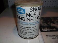 Union Carbide Snow Mobile Two Stroke Qt Oil w Vintage 70s Ad Unopened