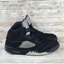 Air Jordan 5 Metallic Retro OG Mens Size 14 Black Silver 2016 Basketball Sneaker