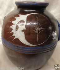 ANGEL ORTIZ GABRIEL TONALA JALISCO MEXICO MEXICAN POTTRY POT SIGNED *AS IS* MOON