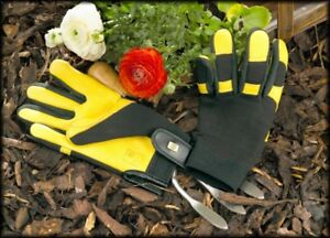 GENUINE GOLD LEAF SOFT TOUCH LADIES GARDENING GLOVES FREE FAST RECORDED DELIVERY