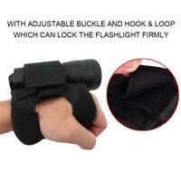 Portable Black Diving Light Flashlight Torch Holder Glove Underwater Accessory