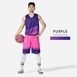 Mens Basketball Outfit 2-Piece Set Jersey Shorts Sweatsuit Running Set