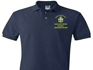 NAVAL AIR STATION KEFLAVIC * ICELAND  EMBROIDERED POLO SHIRT/SWEAT/JACKET.