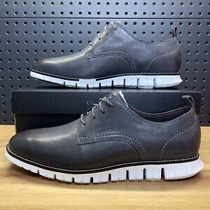 Cole Haan ZEROGRAND Plain Toe Oxford Leather C35597 Magnet Grey Men's Size 13