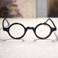 34d471158 Vintage John Lennon Round Eyeglasses Frame acetate mens gloss black Glasses