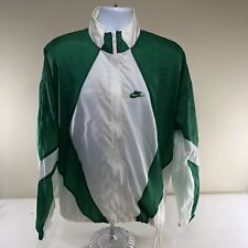 Vintage 90s Nike Men's Nylon Track Jacket Green White Running Summerville, SC XL