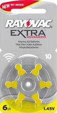 RAYOVAC Taglia 10 Apparecchi Acustici Cellule Batterie x60 - * NUOVO * migliorata Scheda lunga