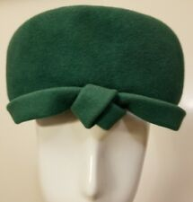 Vintage, Hats by Louis/Firenze, Wool, Hunter Green, 1960s, Pillbox Hat (XS)