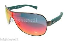 Authentic RAY-BAN Matte Gunmetal Shield Sunglasses RB 3471 - 029/6Q *NEW*