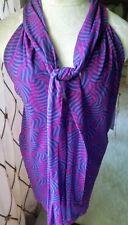 NWT Sweet Pea M Purple Swirl Neck Tie Scarf Mesh Tunic Top Shirt Stacy Frati $48