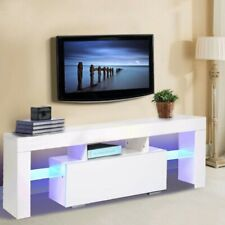 Fernsehschrank LED TV Möbel Schrank Lowboard Sideboard Fernsehtisch Weiß