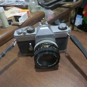 vintage Canon TX 35mm camera 50mm lens
