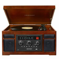 Crosley CR7007A-MA Patriarch 3-Speed Turntable with CD Player & Portable Audio