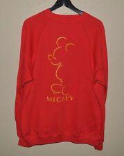 Mens VTG Walt Disney Mickey Mouse Crewneck Sweatshirt XL Red Mickey Unlimited