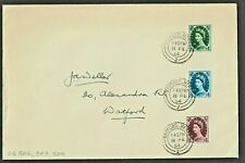 More details for gb wilding tudor wmk 9d 10d & 11d definitive stamps first day cover ref:qx35