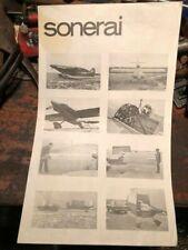Vintage Monnett Sonerai Experimental Homebuilt Airplane Specs Brochure