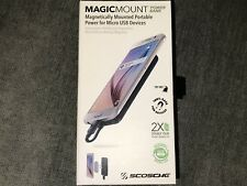 New Scosche Magicmount Portable Micro USB Charger/Magnetic Backup Battery New
