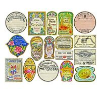 Apothecary Labels & Drug Store Pharmacy Decor, 16 DRUGGIST LABELS STICKERS