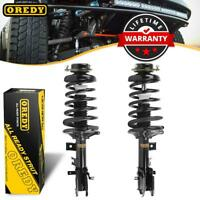 Pair (2) Front Complete Struts & Coil Spring w/ Mounts For Infiniti QX4 1997-99