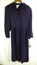 NEW Vintage 90's Women's Karin Stevens USA Dress-Dark Purple-$99-Plus Size 16