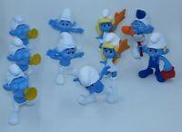 "Lot Of 10 PVC 3"" Smurf Figures Lot Peyo Toys"