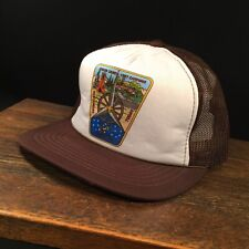 Vintage Hat BSA Boy Scouts Camporee 1987 Trucker Cap Adjustable Snapback Mesh