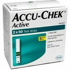 Accu Chek Active Glucose Blood Test Strips.