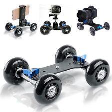 Selens DSLR Camera Dolly Smooth Skater Tabletop Mobile Rolling Slider Car