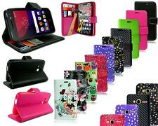 """For  Alcatel Pixi 4 4"""" 4034 X New Leather Flip Wallet Phone Case + Screen Guard"""