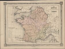 1835 Dufour Antique Map of France under The Roman Empire