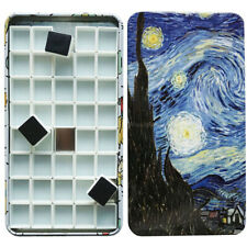 Artist 40pcs Empty Half Pans with Magnets for Oil Arylic Watercolor Painting