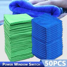 50Pcs Microfiber Cleaning Cloth Towel No-Scratch Rag Car Polishing Detailing USA