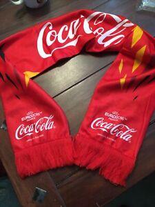 Schal Coca Cola UEFA 2016 Deutschland Fleece Fan Artikel Werbung