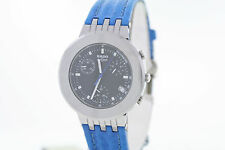 Unisex Rado DiaMaster R14470187 Chronograph Swiss Quartz Blue Leather Watch