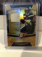 2020 Gold Standard Marshawn Lynch Gold Rush Game Worn Jersey #168/199 Seahawks