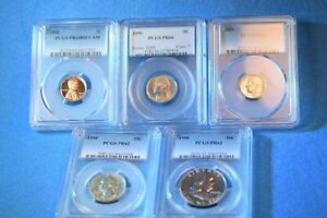 1950 US SILVER PROOF SET PCGS CERTIFIED PROOF SET PF-64RD CAM/66/62/62/62!  #75