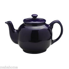 Price & Kensington Rockingham Ceramic 6 Cup Midnight Blue Traditional Teapot Pot