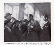 42 ST ETIENNE GENERAL DE GAULLE CITE OUVRIERE DOCTRINE SOCIALE IMAGE 1948 PRINT