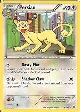 Pokemon Black White Next Destinies Persian 81 99 RARE Card