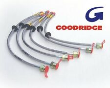 FORD FG BRAIDED BRAKE HOSE KIT XR6T XR8 SEDAN WITH TRACTION CONTROL  GOODRIDGE
