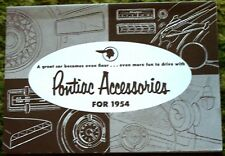 1954 Pontiac Accessories Sales Brochure 54