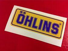 1 Adesivo OHLINS ammortizzatori pistoncino Yellow & Blu