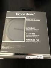 Brookstone Mini Slim Pad Wireless Charger — Apple Samsung Compatible - Brand New