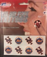 MLB New York Mets Peel and Stick Tattoos - Fan Stickers (8 Piece)